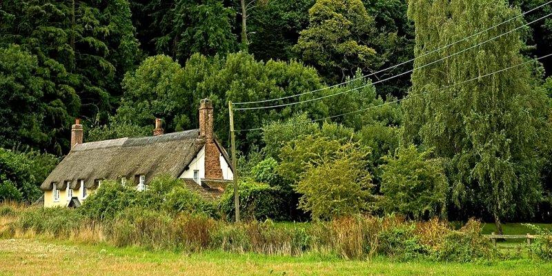 Old cottages, Dunster