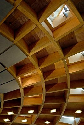 Ceiling, Arcade of Ideas, Eden Project, Cornwall
