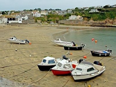 Beach and boats, Gorran Haven, Cornwall