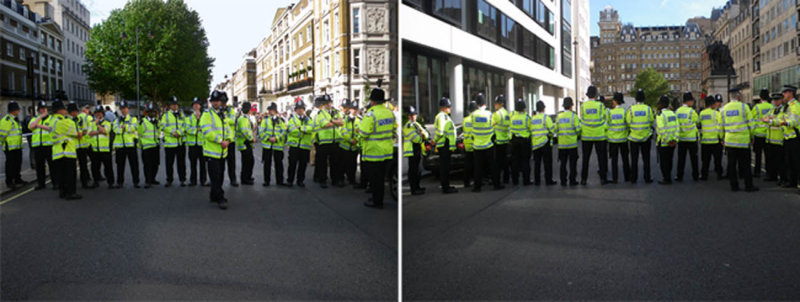 Row of Policemen (Front & Back)