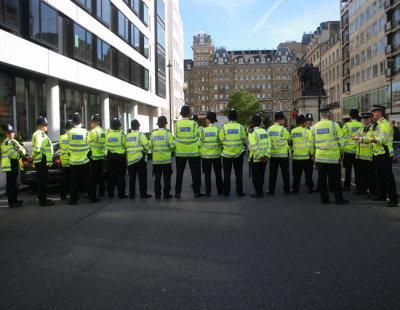 Row of Policemen (back)