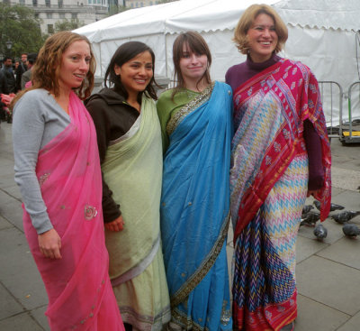 Ladies in Indian Sarees