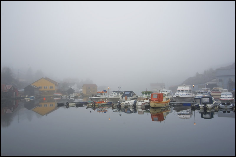 Small harbour in fog......