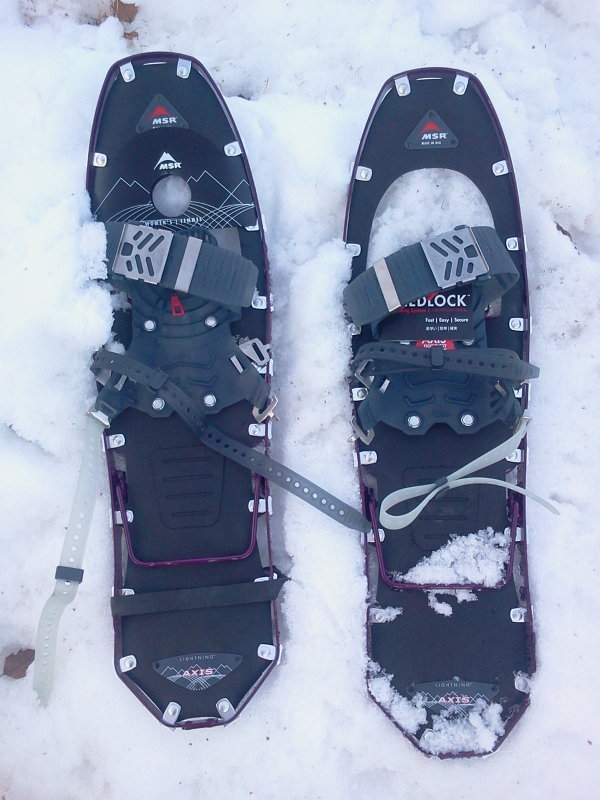 Patty,s New Snowshoes!!