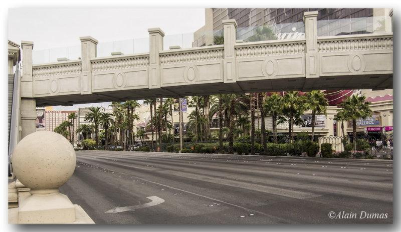 The Vegas strip, alternate view, very large Boulevard.