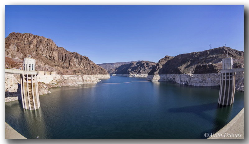 A 180 degree view of Lake Mead from...