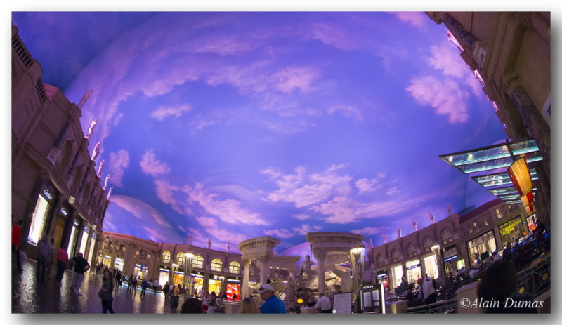 Mall ceiling.