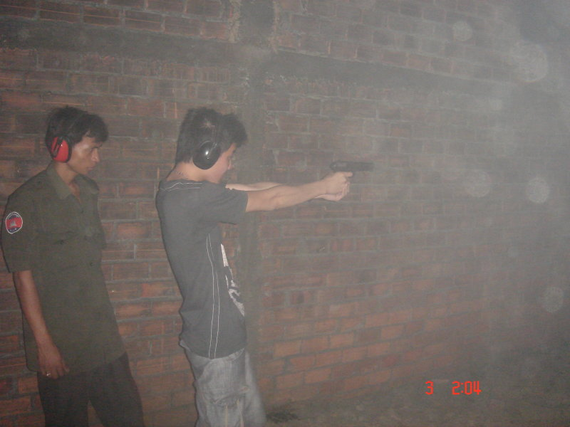 with K54 pistol
