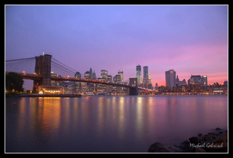 Sunset from Brooklyn