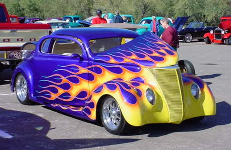 1937 Ford <br>3 window coupe