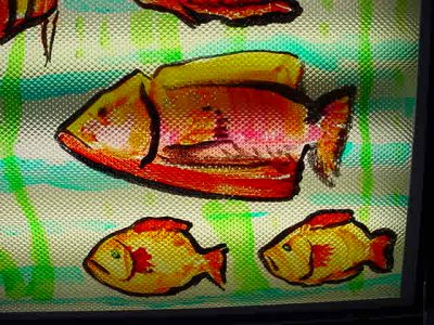 fish on the ceiling<br>Centro Botanero<br>tel. 480-610-0851