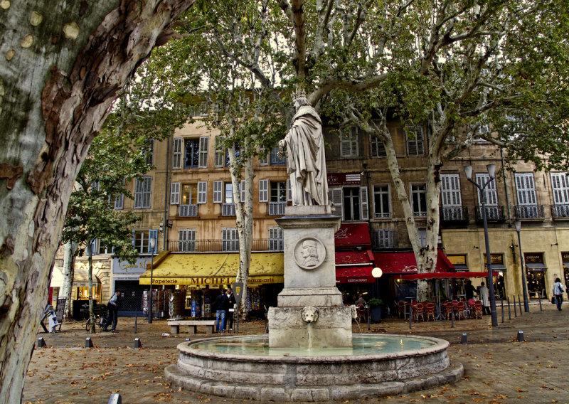 une fontaine à Aix-en- Provence