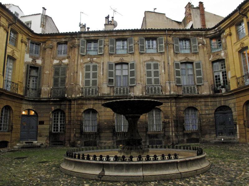 une fontaine à Aix-en- Provence #2