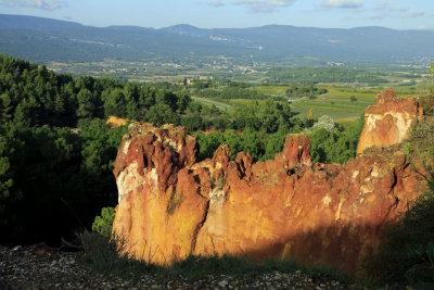 ochre cliffs in Roussillon