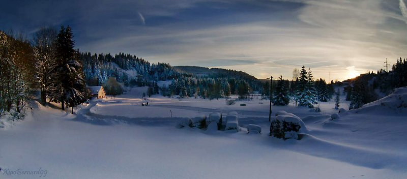 Winter.The Track Training Skiing of Gerardmer.