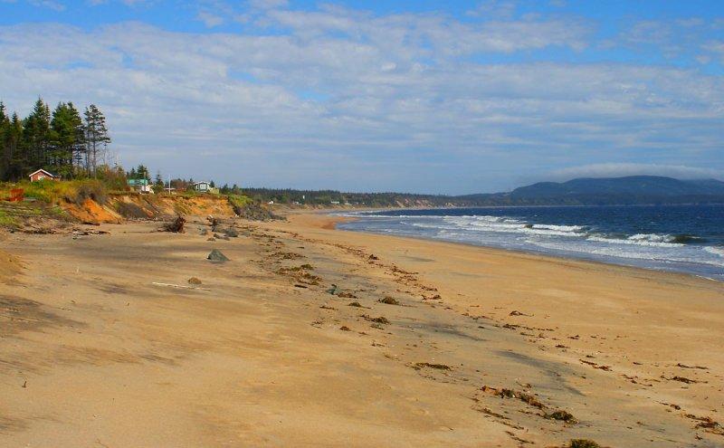 La plage à Clark-City