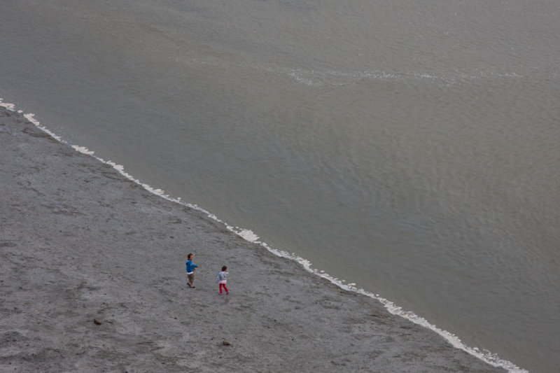 Small people on the beach
