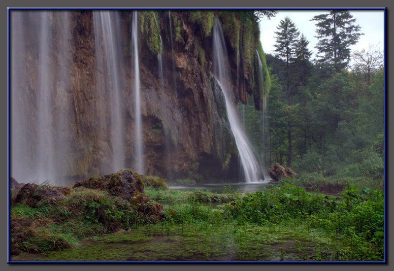 Waterfall in Plitvice