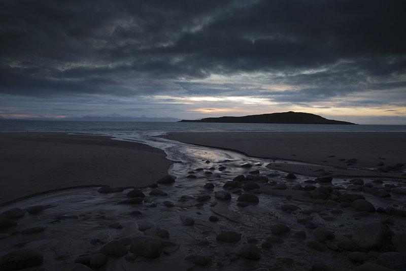Last light on Big Sand beach