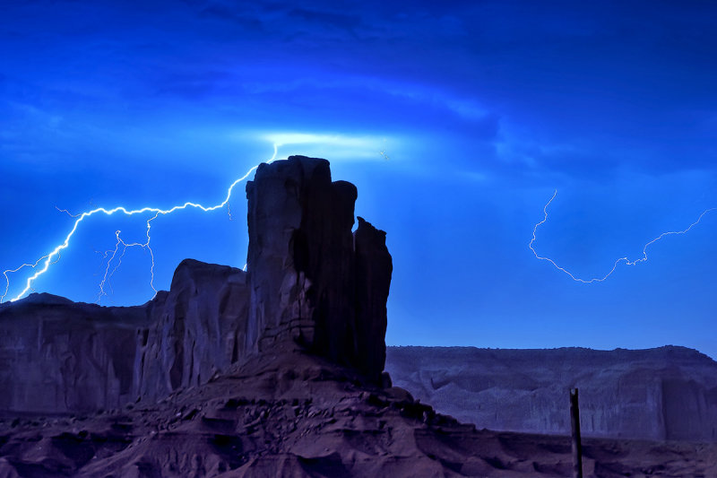 The Storm In Monument Valley