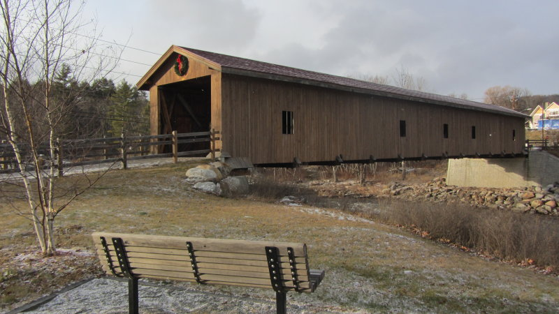 Jay Covered Bridge<BR>December 22, 2012