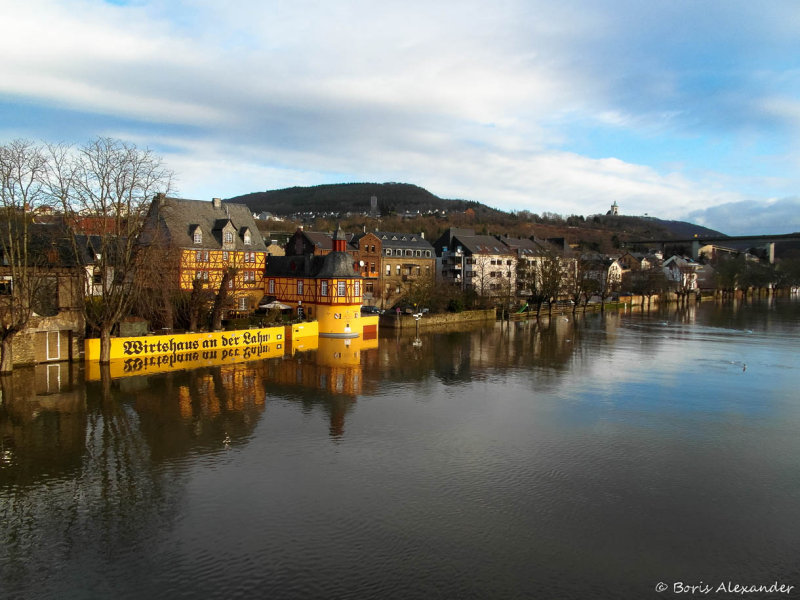 Flooding at the River Lahn