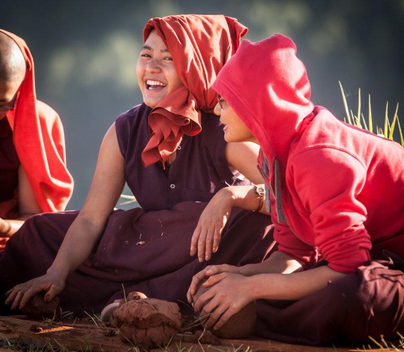 Nuns at the Punakha Monistary