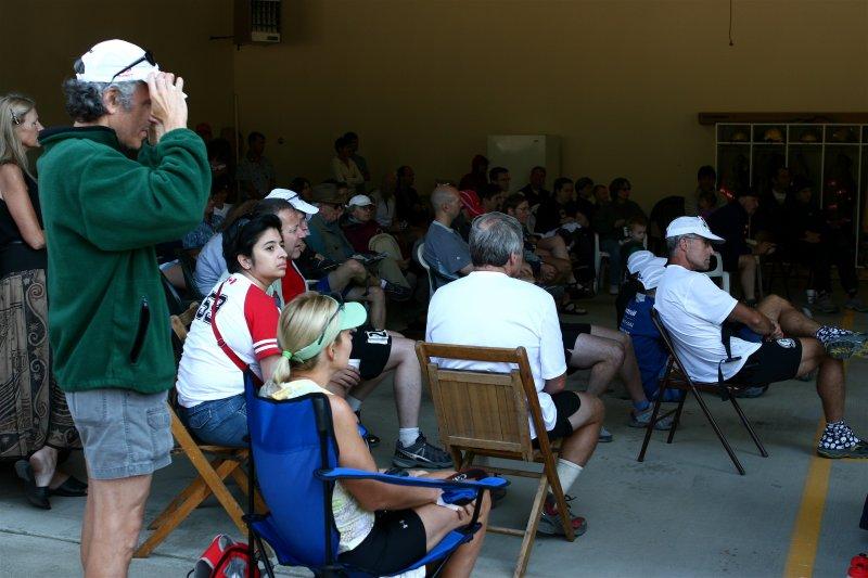 Pre-race meeting