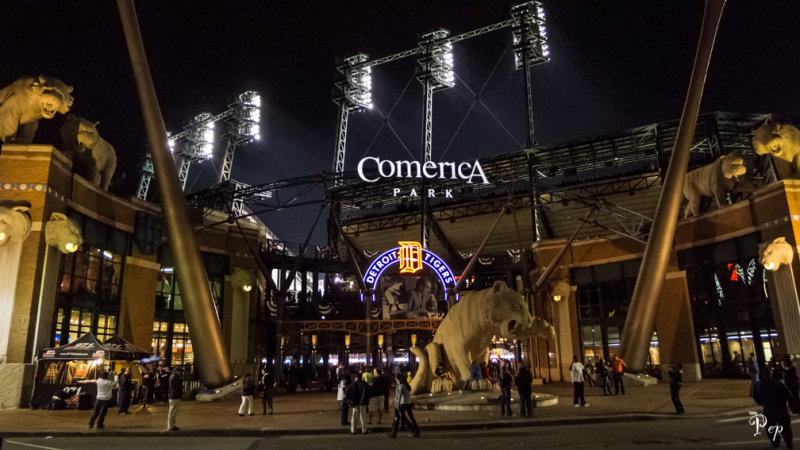 Comerica Park during the AL championship playoffs