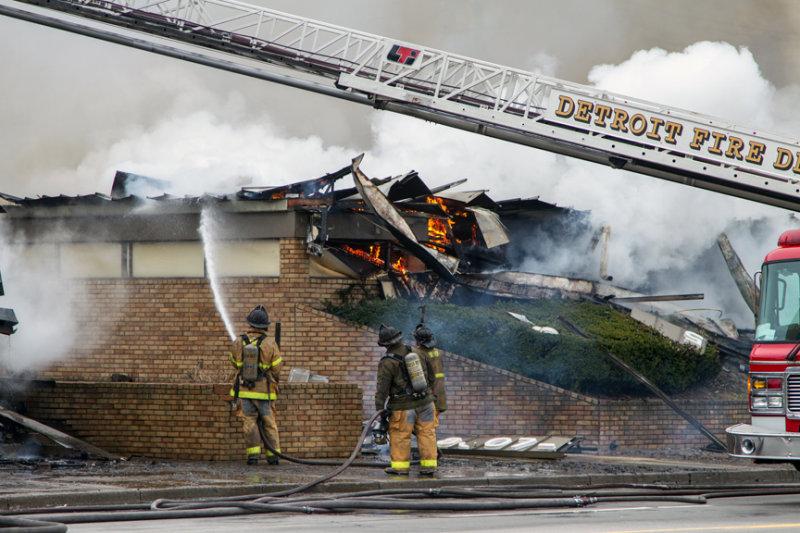 Murder-arson scene