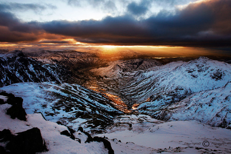 Sunrise over Langdale Valley