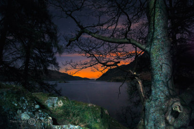 Ullswater-first glow.