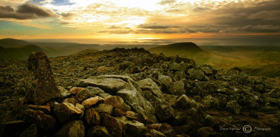 Sunset from Red Pike Summit.