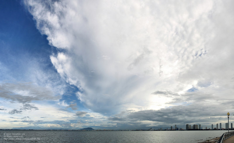 Storm over Penang
