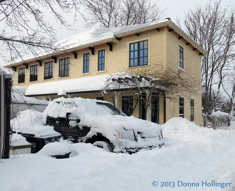 Ricci House in Snow