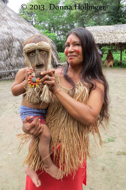 Yagua Mother and Child with Mask