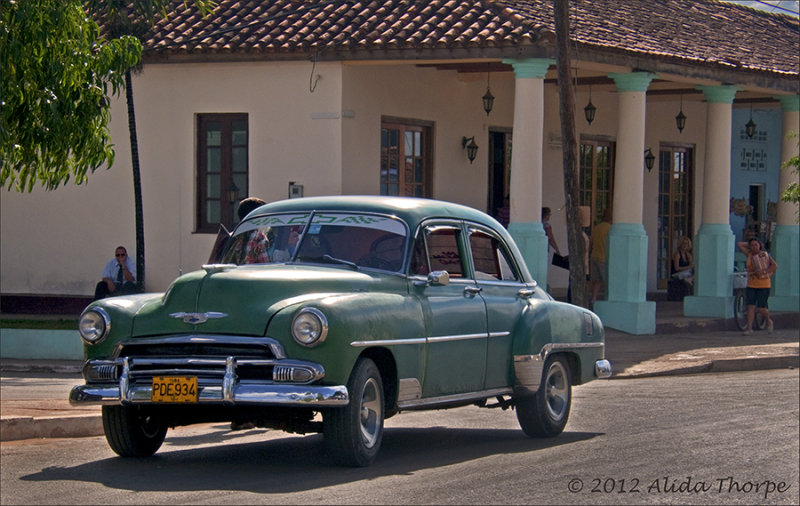 green chevy 1950s