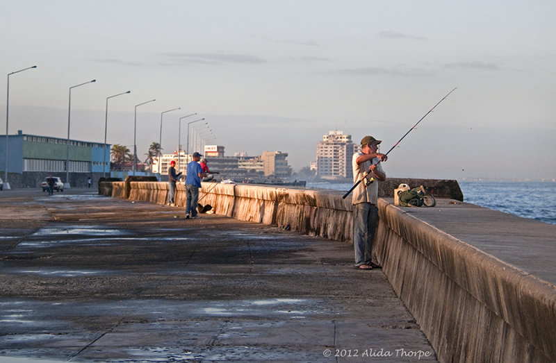 Malecon fisherman