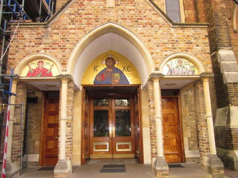 St. Marys  church  entrance.
