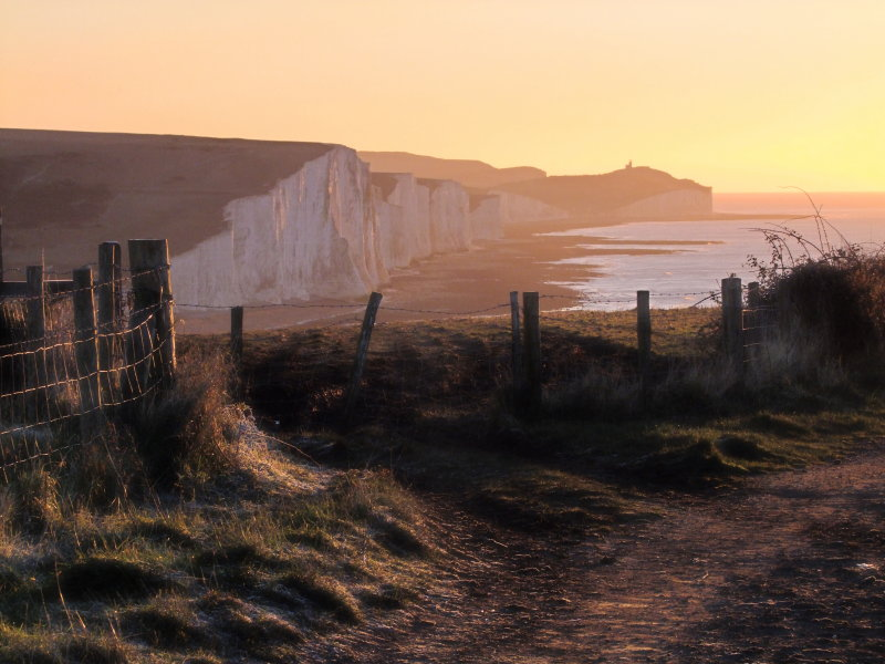 The  seven  sisters  at  sun-up.