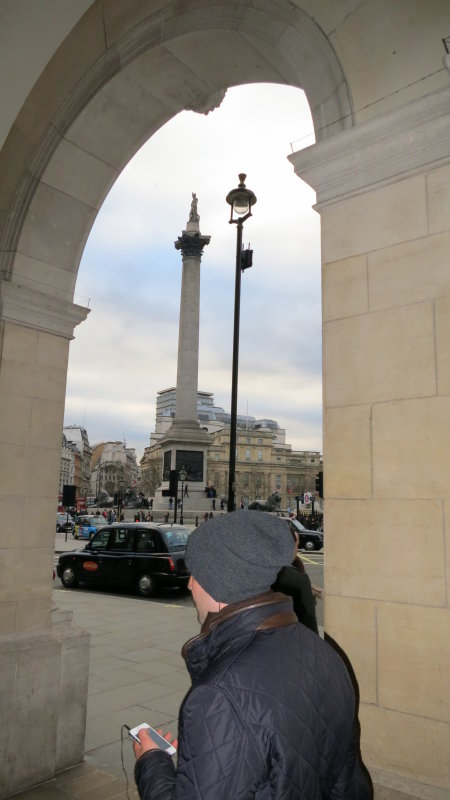 Nelsons  Column  from  The  Colonade.
