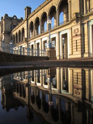 Facade  in  reflection.