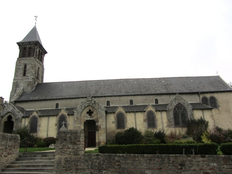 down in the village of Mont Dol, the 12th-century church awaits