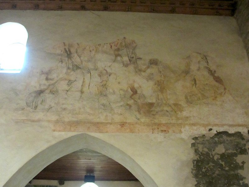 this church is known for its 12th and 14th-c. frescoes