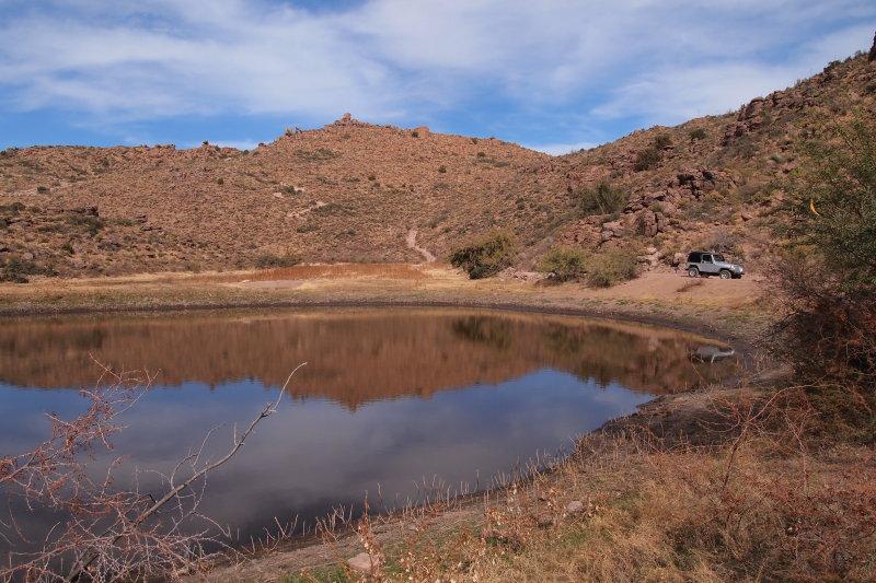 Hackberry Creek pond. FR 315