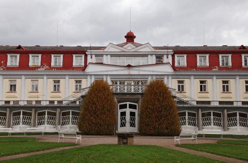 Spa building in Lazne Bohdanec