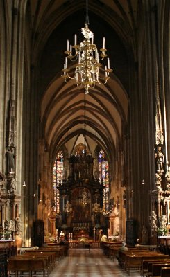 nave of St.Stephans`  Cathedral,Vienna