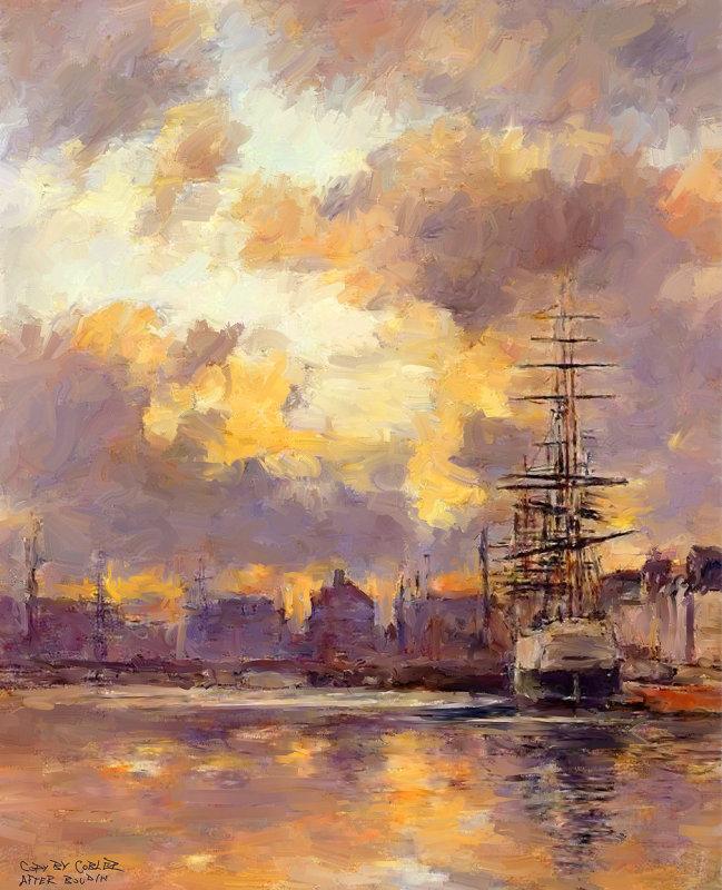 Le Harve By Eugene Boudin