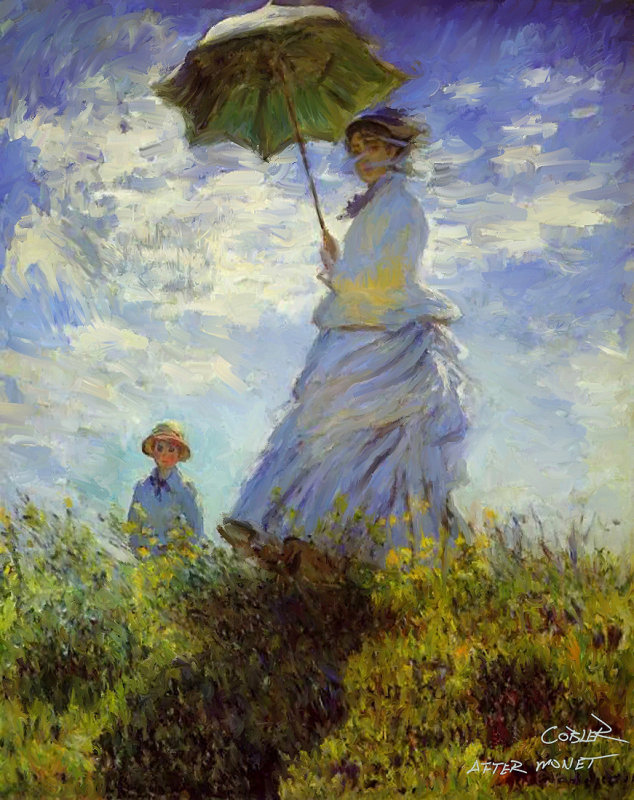 Women With A Parasol By Monet