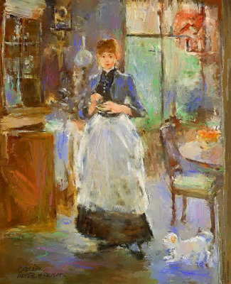 In The Dining Room By Berthe Morisot